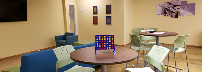 Image of a Connect 4 game on a table