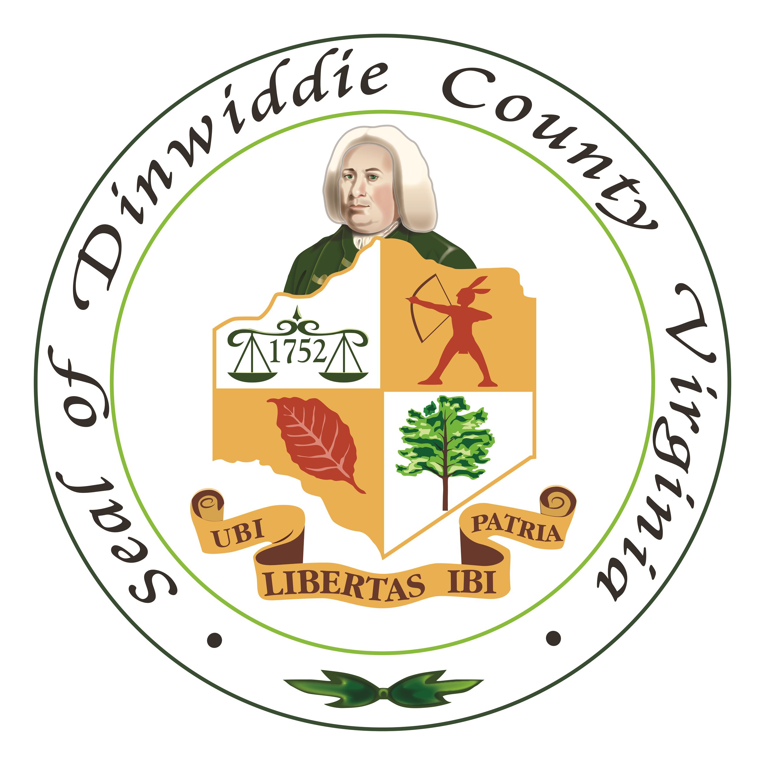 Dinwiddie County Seal 2019  - Transparent