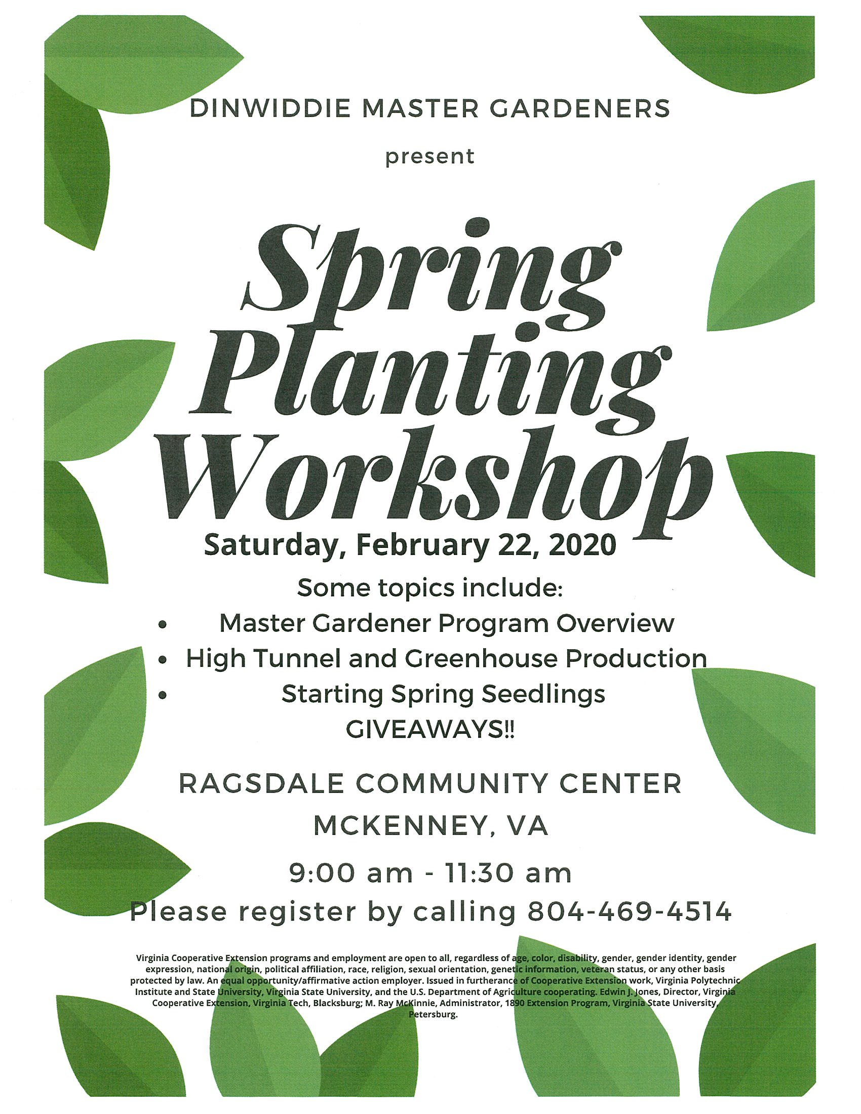 Spring Planting Workshop Flyer