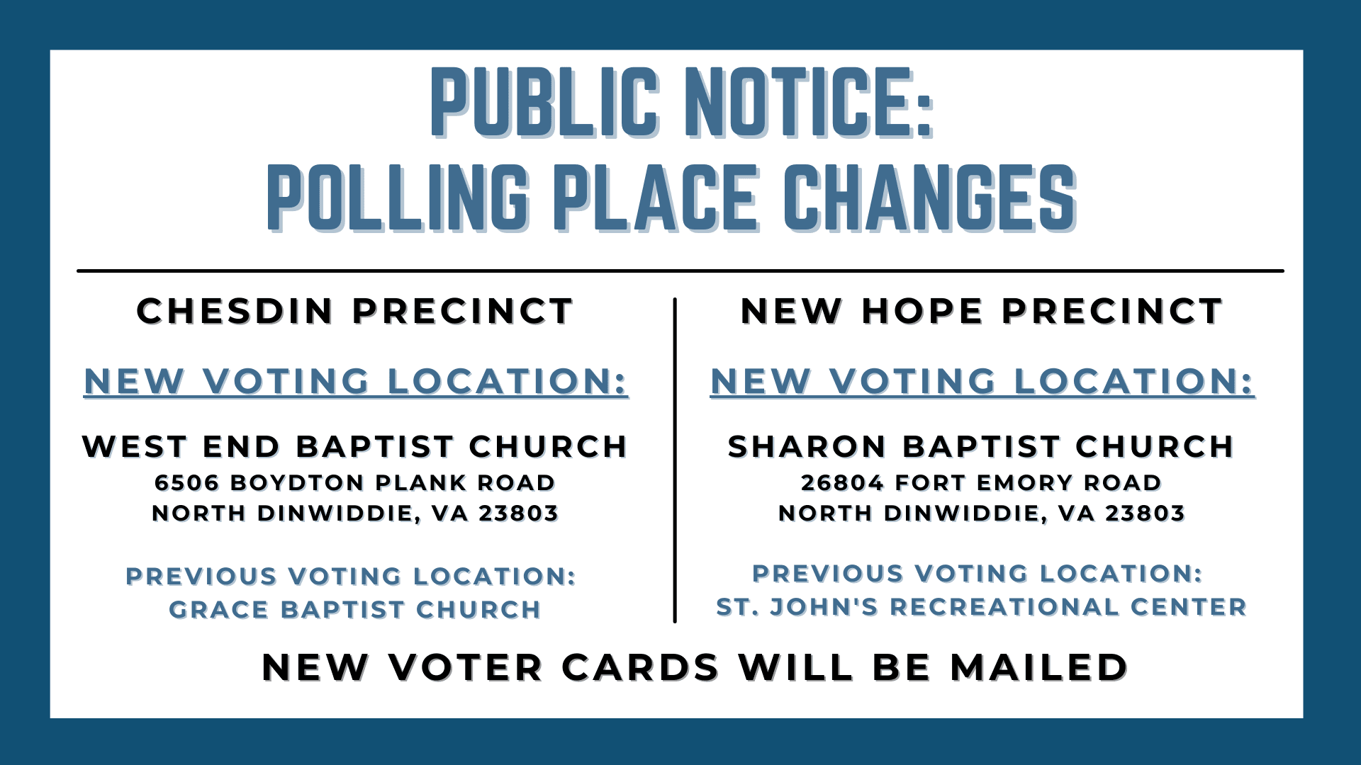Polling Place Change